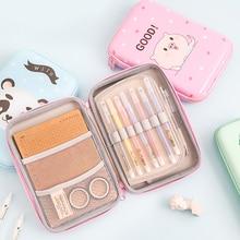 лучшая цена Kawaii School Pencil Case for Girls Boys Penal Cute EVA Pencilcase Large Storage Pen Bag Cartridge Stationery Kit Box Supplies
