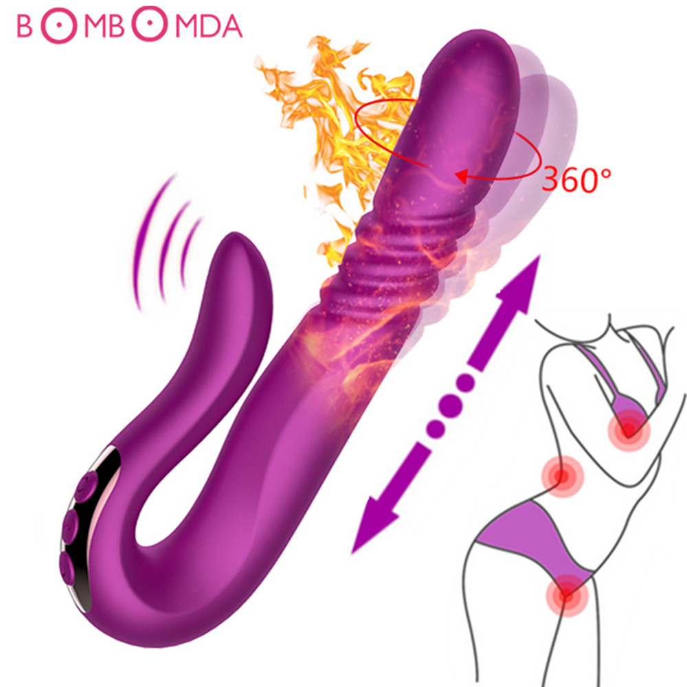 Heating Thrusting Rabbit Vibrator Waterproof Rotating Dildo Vibrator Clitoris Stimulator Female Masturbation Sex Toys for Women new 4u industrial computer case parkson 4u server computer case huntkey baisheng s400 4u standard computer case