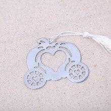 1PC Cinderella Pumpkin Carriage Bookmark Wedding Favor