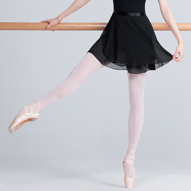 Adult Chiffon Ballet Dance Tutu Skirt Women Girls Gymnastics Wrap Skirt Training Ballet Skirts