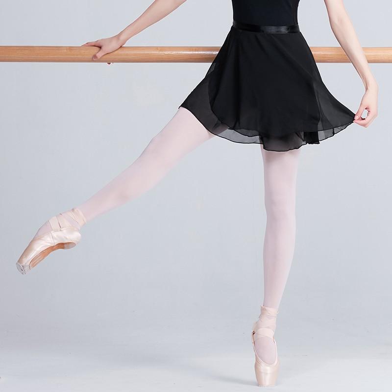 Adult Chiffon Ballet Dance Tutu Skirt Women Girls Gymnastics Wrap Skirt Training Ballet Skirts