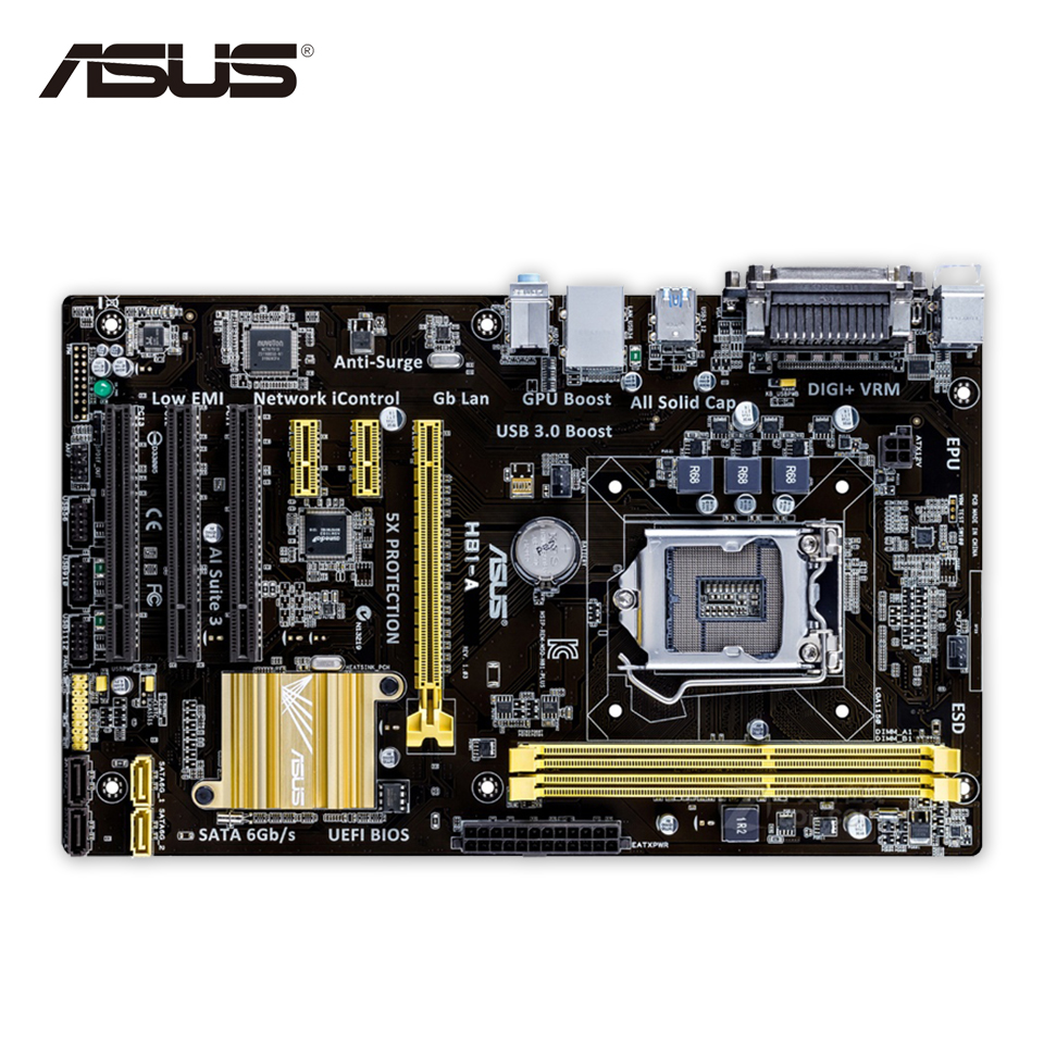 Asus H81-A Desktop Motherboard H81 Socket LGA 1150 i7 i5 i3 DDR3 16G SATA3 USB3.0 ATX On Sale asus p8h67 m lx desktop motherboard h67 socket lga 1155 i3 i5 i7 ddr3 16g uatx on sale