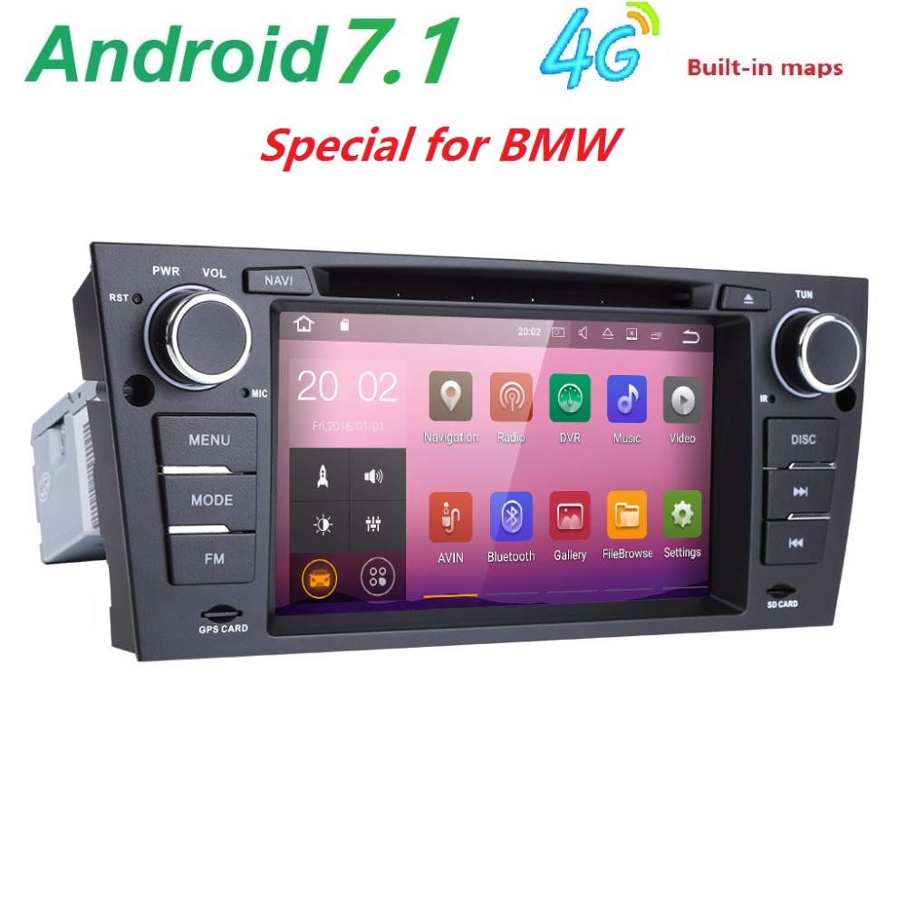 7 inch 4g quad core 1024 600 android 7 1 car dvd player gps navigation radio