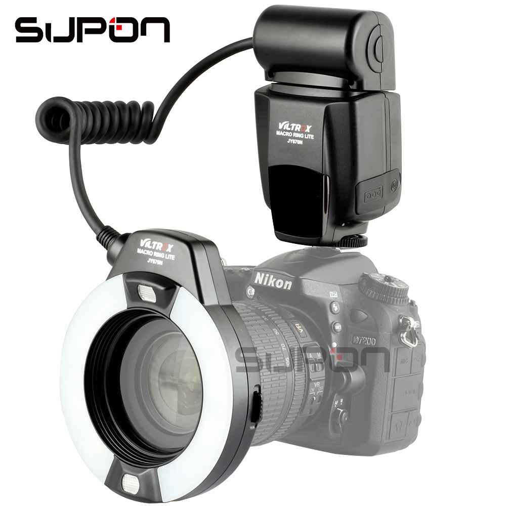 VILTROX JY-670N Macro je-TTL Anneau Flash Light Speedlite pour Nikon DSLR Caméra Cavité Buccale Dents Ornements Close-up de Tir # C1102