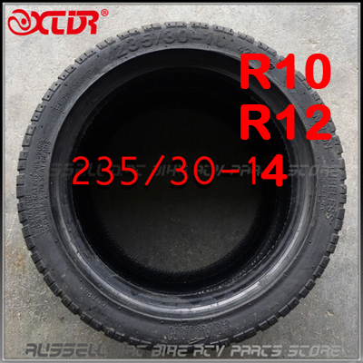 235 30 10 R10 Tubeless Tire Tyre Flat Running rubber Performance 235 30 12 R12 R14