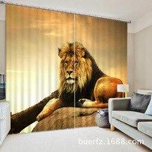 Ferocious Lion 3D Blackout Curtains Healthy Shower Curtain