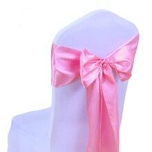 Свадебные атласные ленты на стулья для вечеринки полосы золотого и розового цвета чехлы для стульев украшения банкетные стулья