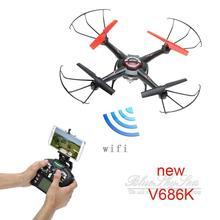 Free Shipping Wltoys JJRC V686K FPV Quadcopter WIFI Camera UFO RC Drone One key Return CF