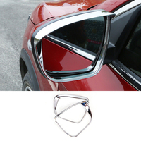 New Accessories For Nissan Juke Styling 2014 2015 2016 2017 2018 ABS Chrome Rearview Mirror Rain Eyebrow Frame Cover Trim