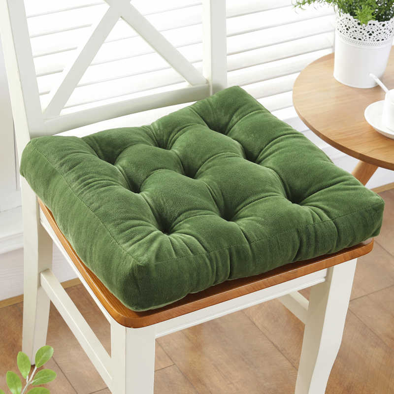 Thickening Anti-skid Cotton Chair Cushion Tatami Seat Pad Soft Office Chair Cushions Car Sit Mat Winter Cushion Throw Pillow