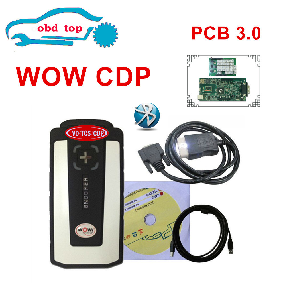 2PCSLOT ne c RELAY new appearance v5.008 2016r0 version WOW SNOOPER real 9241 chip Bluetooth with box professional auto scanner