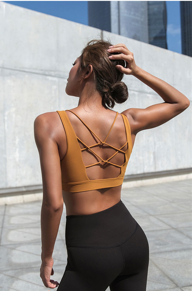 Out Top Yoga Activewear Acolchoados Sports Wear Para mulheres Ginásio