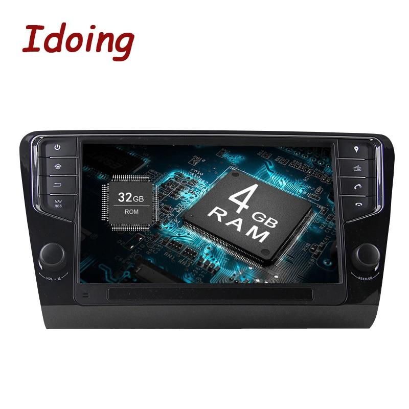 Idoing Android9 0 4G 32G 8Core1Din Steering Wheel For Skoda Octavia 2016 Car Multimedia GPS Player