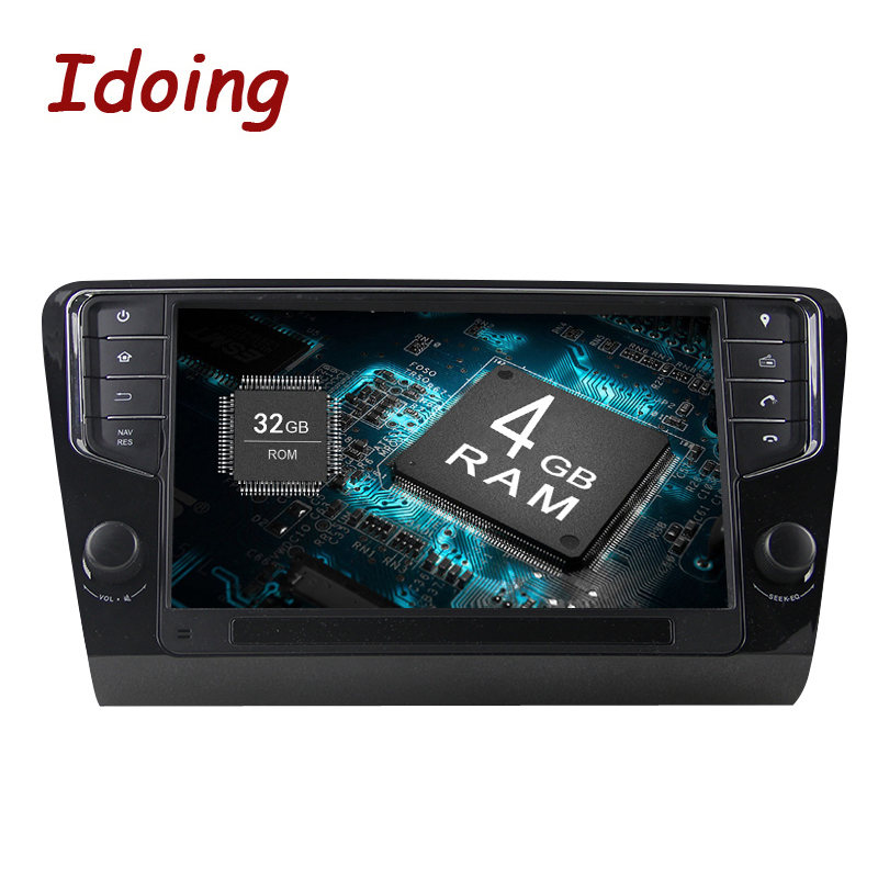 Idoing Android8 0 4G 32G 8Core1Din Steering Wheel For Skoda Octavia 2016 Car Multimedia GPS font