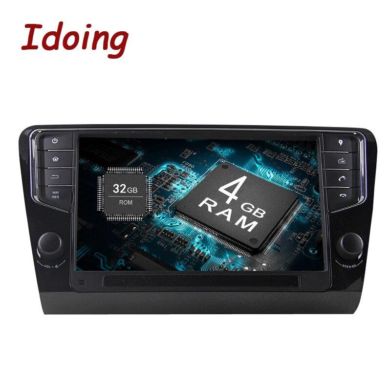 Je Fais Android8.0 4G + 32G 8Core1Din Volant Pour Skoda Octavia 2016 Voiture MULTIMÉDIA GPS Lecteur rapide boot TV 1080 P GPS + GLONAS