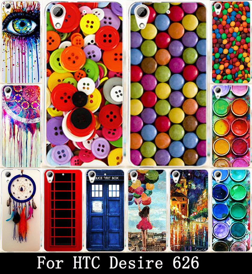 AKABEILA Clothes Buttons Chocolate Painted Hard PC Cover Case For HTC Desire 626 628 650 Case 626w 626D 626G 626S Covers