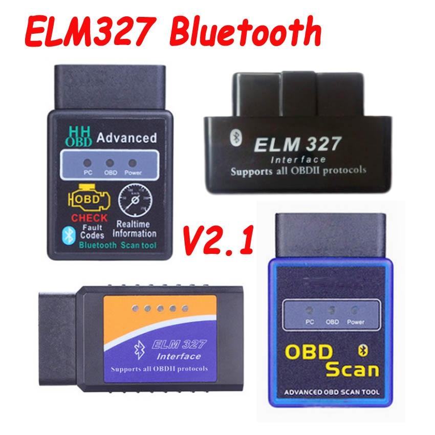 Escáner de códigos para coche ELM327 ELM 2019 V2.1, herramienta Bluetooth Super MINI ELM327, Protocolo OBD2 Suppot OBD2, más tipos de opciones, novedad de 327