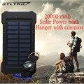 BYLYND 20000 mAh Dupla USB banco de energia Solar À Prova D' Água À Prova de Choque Poder Carregador de Bateria Solar energia solar bateria externa