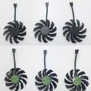 Image 2 - Ventilateur de refroidissement pour jeux vidéo GTX 1080/1070 Ti, 3 pièces, 75MM T128010SU, refroidisseur de carte vidéo GPU pour jeux GTX 1070Ti G1