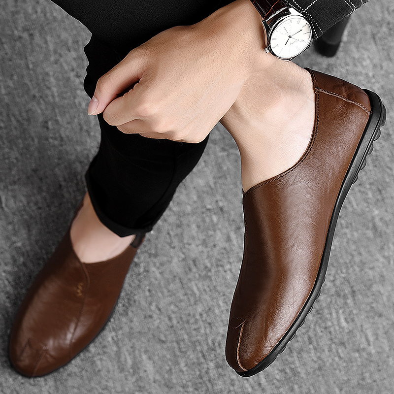 HTB1jyWQayHrK1Rjy0Flq6AsaFXa3 Leather Men Shoes Luxury Brand 2019 Italian Casual Mens Loafers Moccasins Breathable Slip on Black Driving Shoes Plus Size 38-47