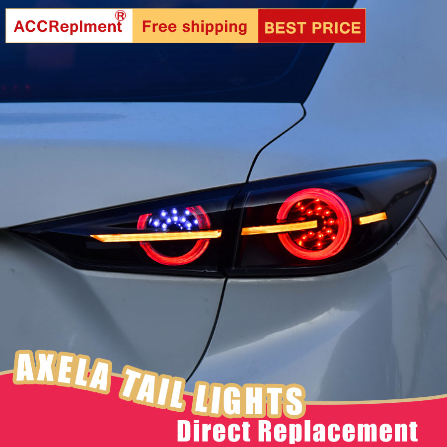 Car Styling LED Tail Lamp for Mazda 3 Axela Tail Lights 2014 2018 for 3 Axela