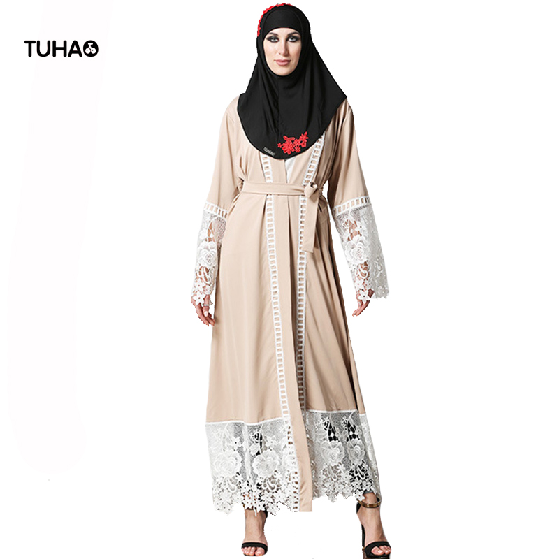 TUHAO Autumn Women Cardigan Tunic Lace Appliques Fashion X-Long 5XL Plus Size   Trench   Coat Kimono Tops Casual Outerwear TB1528