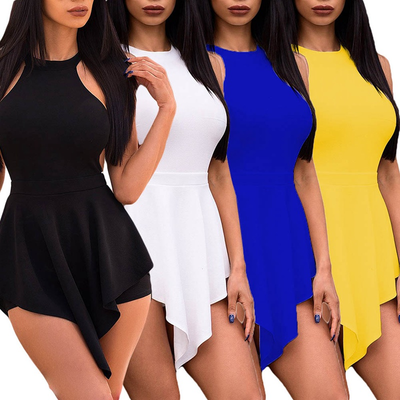 HTB1jyWkLxjaK1RjSZKzq6xVwXXa6 - Women Elegant Jumpsuits & Rompers Halter Irregular Sleeveless Slim Bodycon Overalls Cocktail Club Party Bodysuit