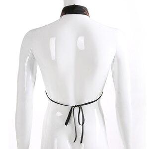 Image 5 - Женский винтажный укороченный топ Sweetown, с вышивкой дракона, на завязках, с открытой спиной, на лето, 2018