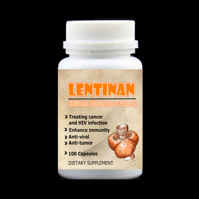 Shiitake Mushroom Extract with Lentinan For Anti Cancer and HIV Infection Enhance immunity Anti-viral Anti-tumor,100pcs/bottle viruses cell transformation and cancer 5