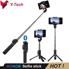Asli Huawei Honor Selfie Stick Tripod Portable Bluetooth3.0 Monopod untuk IOS Android Huawei Ponsel 640 Mm 163G(China)