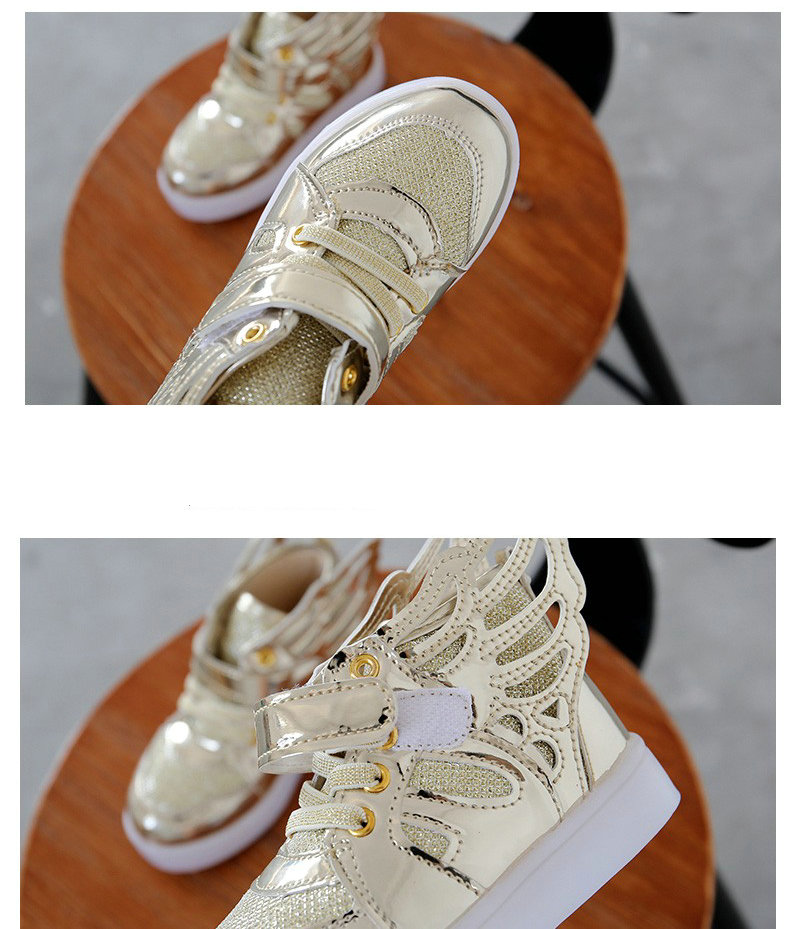 17 Autumn Kids LED luminous Sneakers Glowing Brand Child Breathable Light Flashing Baby Boys Casual Shoes for girl size 21~30 10