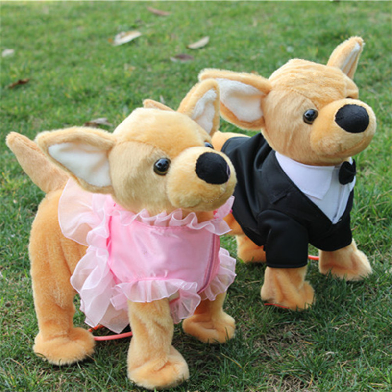 2018 Newest Electronic Pet Toys CHIHUAHUA Walking Singing Electronic Plush Dog Educational Toys For Children Birthday Gifts