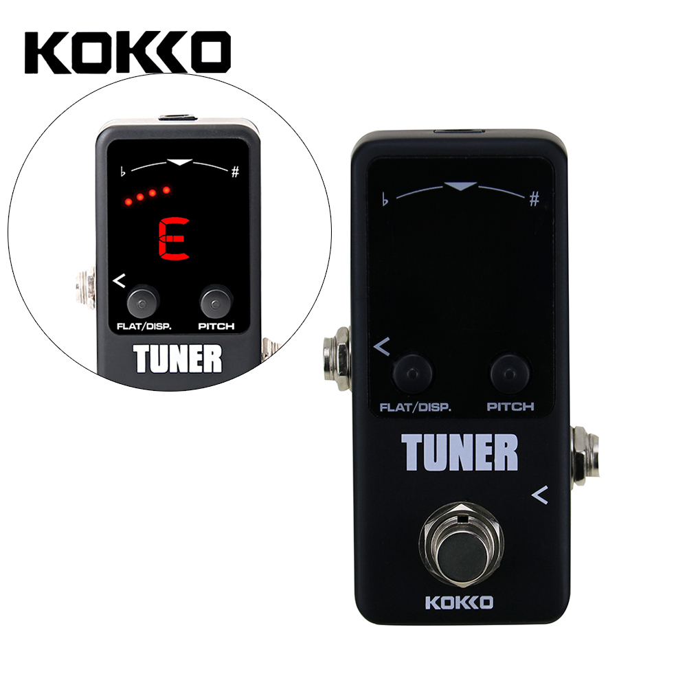 Flanger FTN2 LED Screen Mini Pedal Tuner Guitar Effect Pedals High Quality Guitar Parts & Guitarra Accessories aroma adr 3 dumbler amp simulator guitar effect pedal mini single pedals with true bypass aluminium alloy guitar accessories