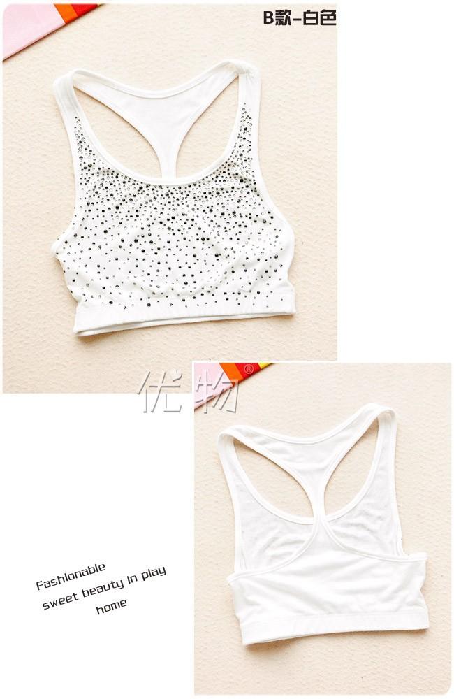 женская сексуальное алмаза кружева ремень жилет 2 стили свободного покроя спорт грудь черный белый 2 цвета основной жилет u1001
