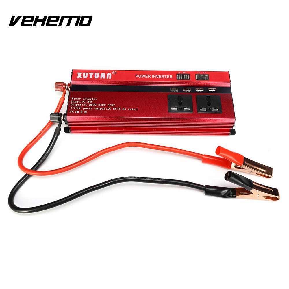 Vehemo convertisseur voiture onduleur transformateur solaire onduleur chargeur Auto onduleur pour LED d'alimentation d'alimentation pour convertisseurs