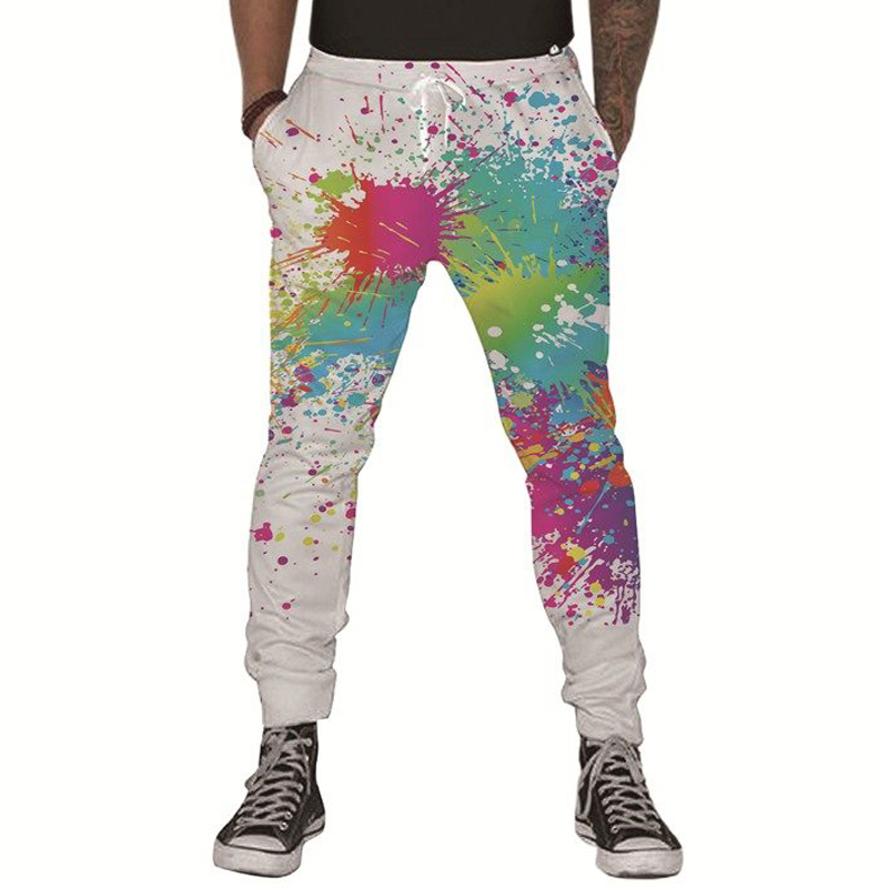 3cb369597e33 Raisevern Fashion Pants 3d Print Funny Color Painting Joggers Pockets Harem  Pants Full Length Trousers For Men Women Dropship