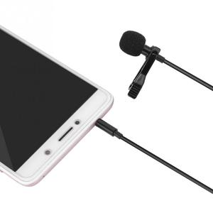 Image 2 - Micrófono portátil de solapa con Clip profesional, manos libres, Mini condensador con cable para iPhone, Samsung, Android y Windows, 3,5mm