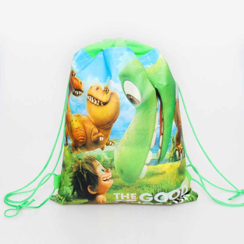 יום הולדת מסיבת המוצ 'ילה בני טובות קריקטורה חמוד דינוזאור נושא לקשט שאינו ארוג בד תינוק מקלחת שרוך מתנות שקיות 1PCS