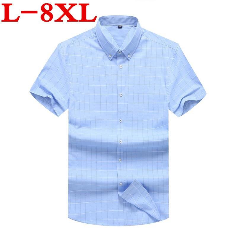 À Vêtements Robe Chemises 5x100 Slim Casual 8xl Fit Marque 6xl Courtes Hommes Plaid 2 2018 Mode Chemise Homme Manches 1 Coton W1YqXznzxa
