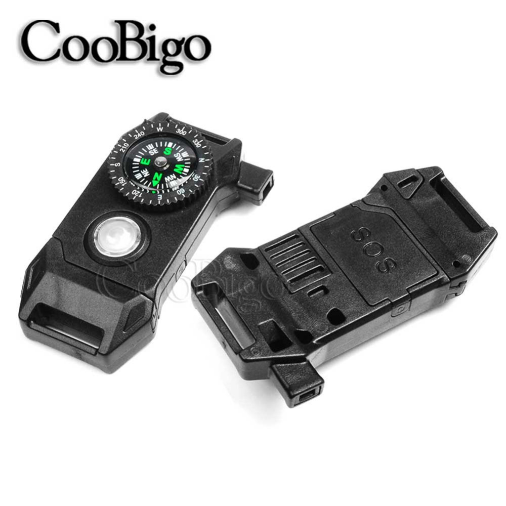 Impartial 11/16 Webbing Size Release Compass Whistle Buckle Led Light Sos Flash Scraper Prarchute 550 Cord Paracord Bracelet Outdoor Kit Home & Garden Apparel Sewing & Fabric