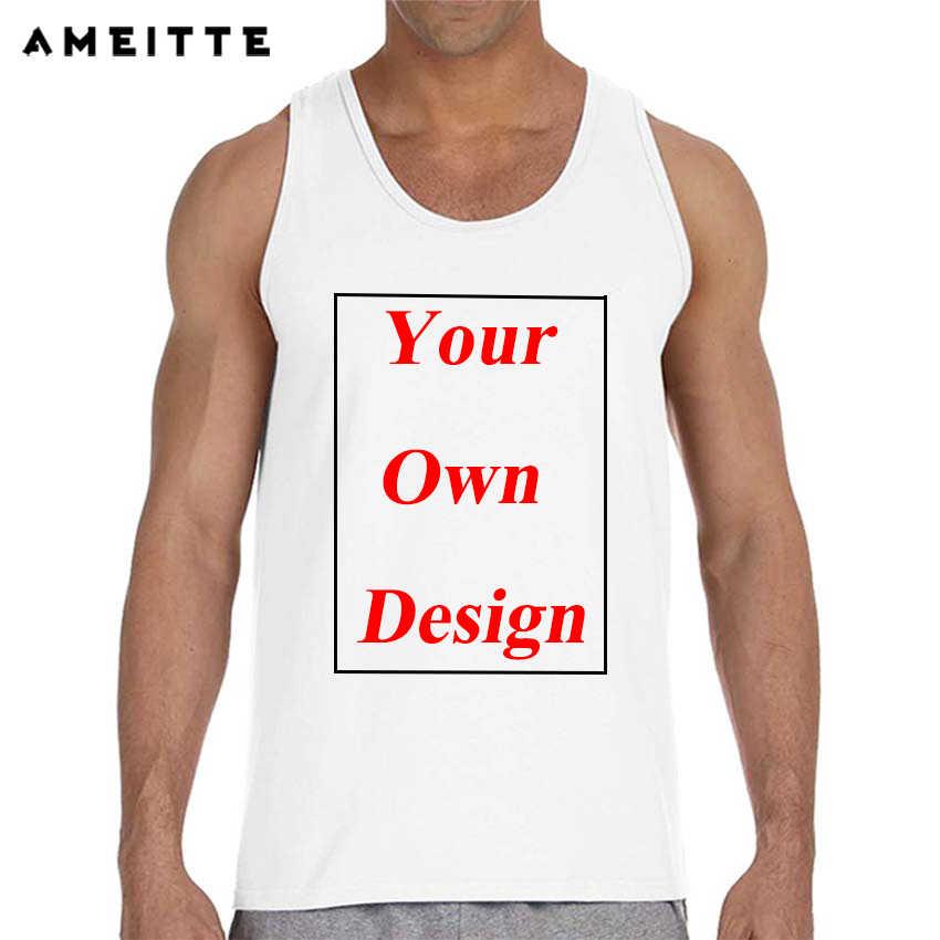 Aangepaste Mannen Tank Tops Print Uw Eigen Ontwerp Hoge Kwaliteit Vest Sturen In 3 Dagen