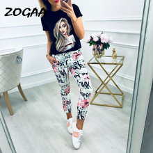 Women Pants Pencil Casual Floral Print Lace Up High Waist Pants Female Harajuku Pants Slim Pocket Summer Trousers 2019 цена
