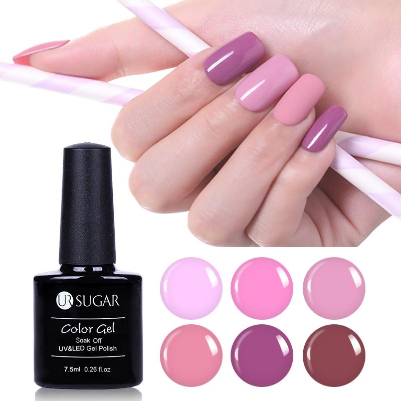 2pcs Nail UV Gel Polish Nude Color LED Lamp Soak Off Gel
