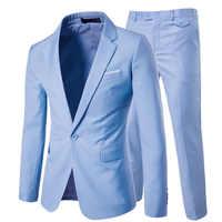 Luxury Men Wedding Suit Male Blazers Slim Fit Suits for Men Costume Business Formal Party Blue Classic Black Blazer