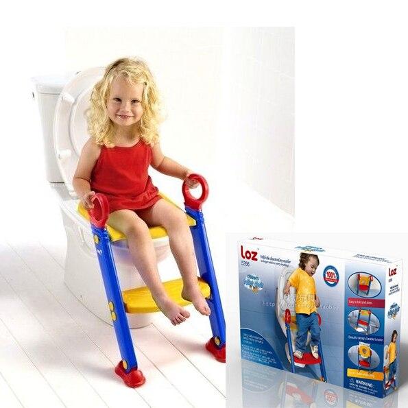 Baby Toilet Seat Training Basin Potty Ladder Folding