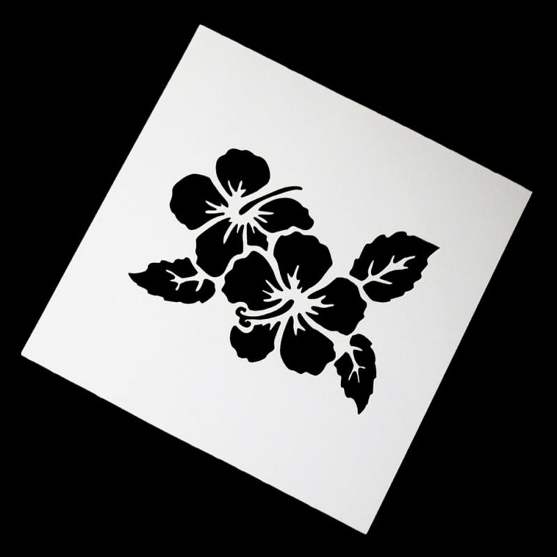 Rose Blume Herz Welle Malerei Schablonen Kunststoff Präge Vorlage ...