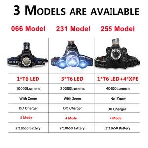 Image 2 - 가장 밝은 헤드 램프 Led 헤드 라이트 XML 3/5 LED T6 헤드 램프 손전등 토치 헤드 라이트 사용 캠핑, 낚시에 가장 적합한 18650 배터리