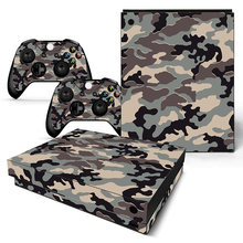 GOOYIYO - For Microsoft XBOX ONE X Sticker Gamer Console Controller Vinyl Decal Personality Camouflage Skin XBOX ONE X Sticker(China)