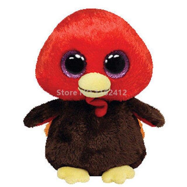 Ty Beanie Boos Gobbles The Turkey Plush Animal 6 15cm Cute Stuffed