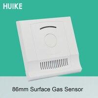 1 Conjunto de Sensor de Gas Combustible de 86mm  seguridad doméstica inteligente NC  opciones de salida de relé  Detector de Gas Natural de Control de fuego
